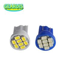 100 قطعة/الوحدة لمبة LED للسيارات 24 فولت T10 194 168 1206 8 SMD 8 لمبات إضاءة LED أوتوماتيكية مصباح مؤشر الأدوات أبيض فائق مصابيح وتد DC24V