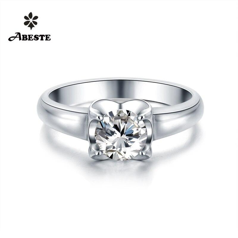 ANI 18 К Твердые белый/желтый/розовое золото (AU750) для женщин обручальное кольцо Роскошные 0.5ct Certified кольцо с круглым бриллиантом обручение ювел