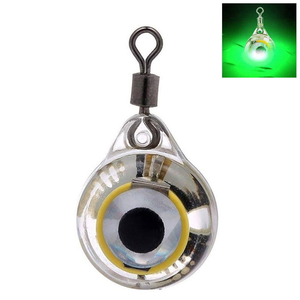 Fishing Lure Lamp Tools Squid Illuminous Light Emitting Underwater Led Eye Shape Flashing False Bait Deep Drop Battery Powered