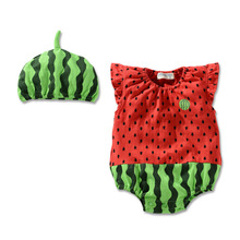 Baby boy clothes set 2016 new animal fruit costume outfit color girl full clothes set 2sets