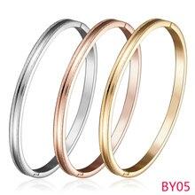 BY05 moda nuevo llega pulsera y brazalete para la mujer joyería oro/Rosa/plata color