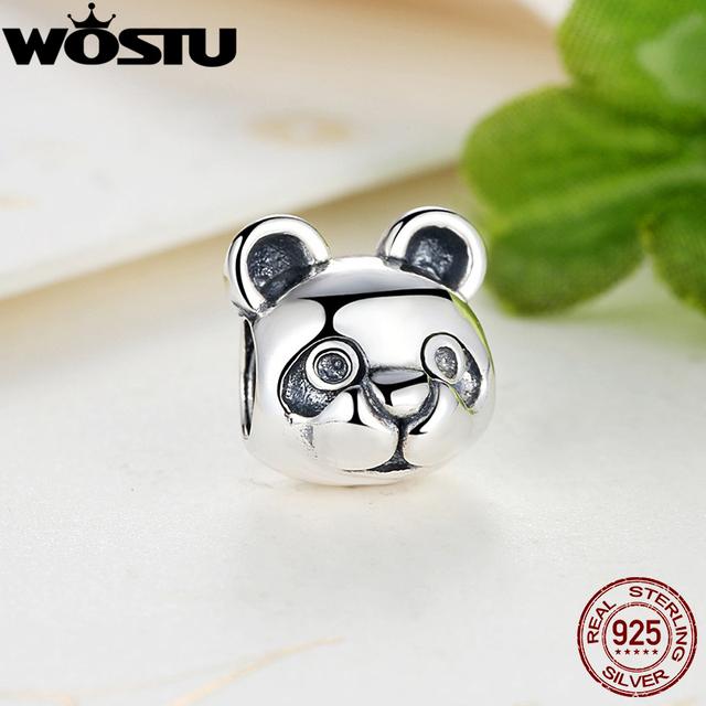 100% 925 Sterling Silver Pacífica Panda Charme Fit Pulseira Pingente de Originais Autêntica Jóia de Presente de Natal