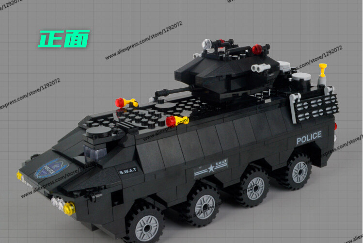 Police station SWAT Armored car jeep Military Series6508 3D Model building blocks compatible with lego city Boy Toy hobbies Gift