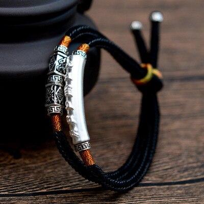 Braided Bracelet Men 925...