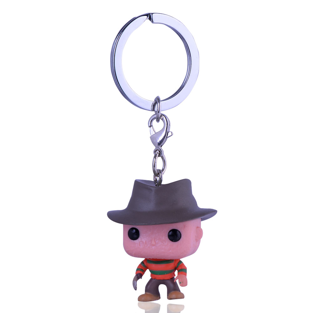 Black Panther Marvel Anime Keychain Despicable Me Minions Doctor Who Superman Figures Toys Key ring For Kids key chain superman