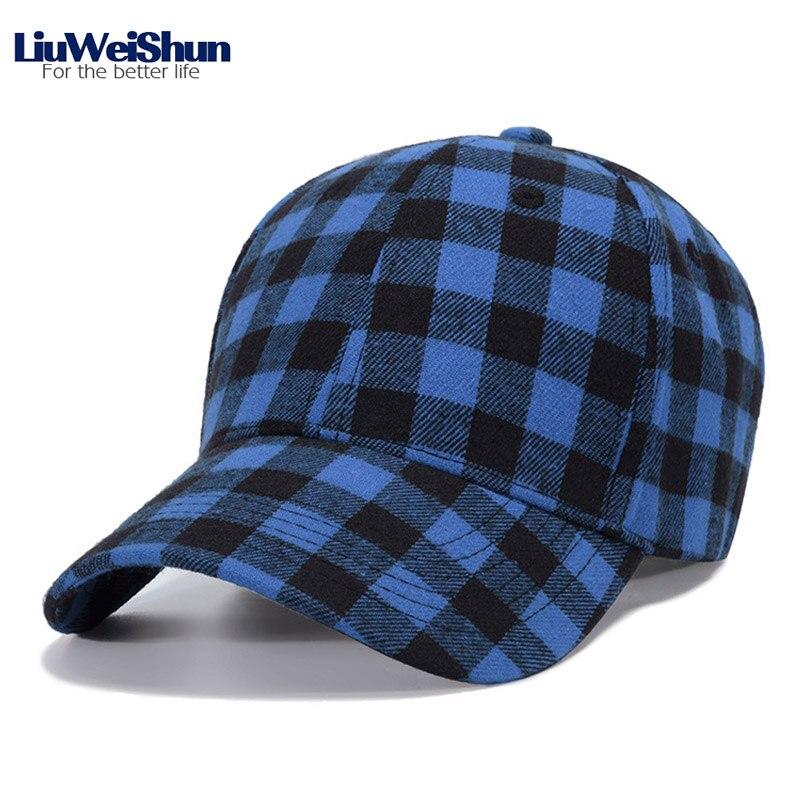 LiuWeiShun Retro Plaid Cotton   Baseball     Cap   For Men Snapback Hat Women British Peaked   Cap   Gorras Painters Casual Adjustable   Caps