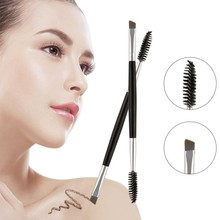 New 1 Pcs Eyelash Eyebrow Brush Double Head Cosmetics Beauty Tools Professional Beveled Spiral