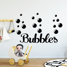 Free shipping bubbles Art Sticker Waterproof Wall Stickers For Kids Rooms Home Decor Mural Custom Bedroom Wall Stickers цена