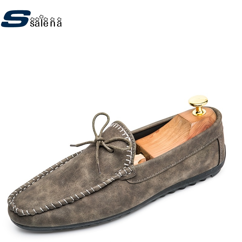 Male Casual Shoes Soft Footwear Classic Loafers Leather Men Working Shoes AA40076 male casual shoes soft footwear classic men working shoes flats good quality outdoor walking shoes aa20135