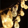 20 Светодиовов Новогодние Гирлянды Батарейка Управление Капельные Струнные Светильники Металла Освещение Патио Свадьбы Спальня И Праздника Рождества