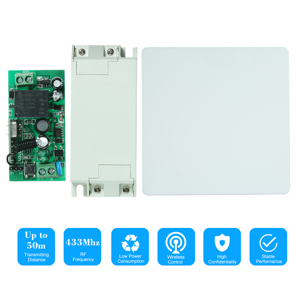DC15-120V Wireless Remote Control Relay Switch for Garage Door Lock 433Mhz