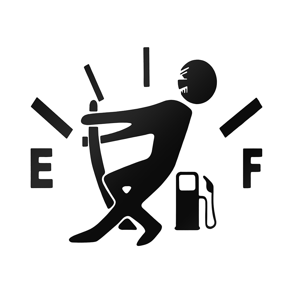 1 шт. забавная наклейка для автомобиля Потяните указатель топливного бака на полный светоотражающий виниловый стикер для автомобиля наклей... title=