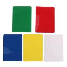 10 pezzi di Plastica Poker Size Cut Carte Del Partito di Gioco di Carte da gioco per il Poker Blackjack Casino Giochi Parti Da Collezione 5 di Colore scelte