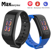 F1 Plus Smart Bracelet Bluetooth Blood Pressure Heart Rate Monitor Fitness Tracker Call Reminder Band for iPhone Xiaomi 10pc/Lot