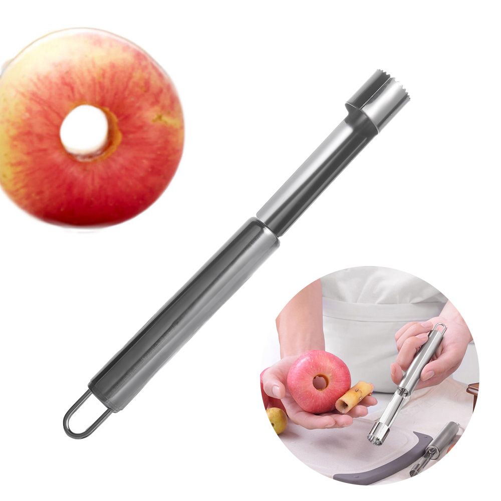 1PC Stainless Steel Apples Pear Chili Core Removers Silver Fruits & Vegetables Tools Kitchen Gadgets Fruit Slicer
