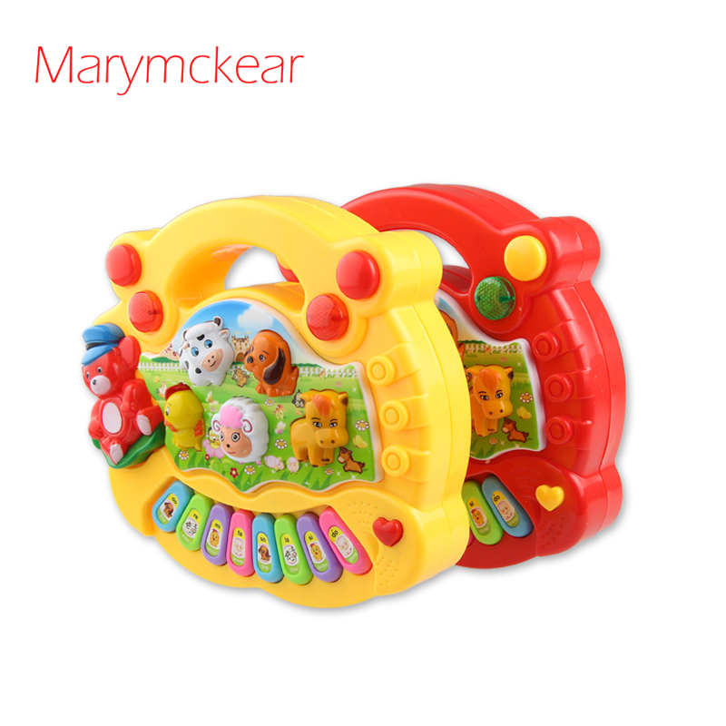 Kids Piano Musical Toy Melody Farm Animal Sounds 8 Note Keys Baby Educational Toy Musical Toy Playing Type Mini Piano Baby Gift