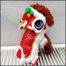 6939255230ecb Fête Du printemps Teddy chien manteau d hiver costume pour chiot pet Lion  danse vêtements petit chien chat costume tang nouvelle.