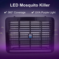 Electric LED Light Insect Killer UV A Home Mosquito Pest Fly Bug Zapper Catcher Tools 4/6/8W Garden Supplies Pest Control
