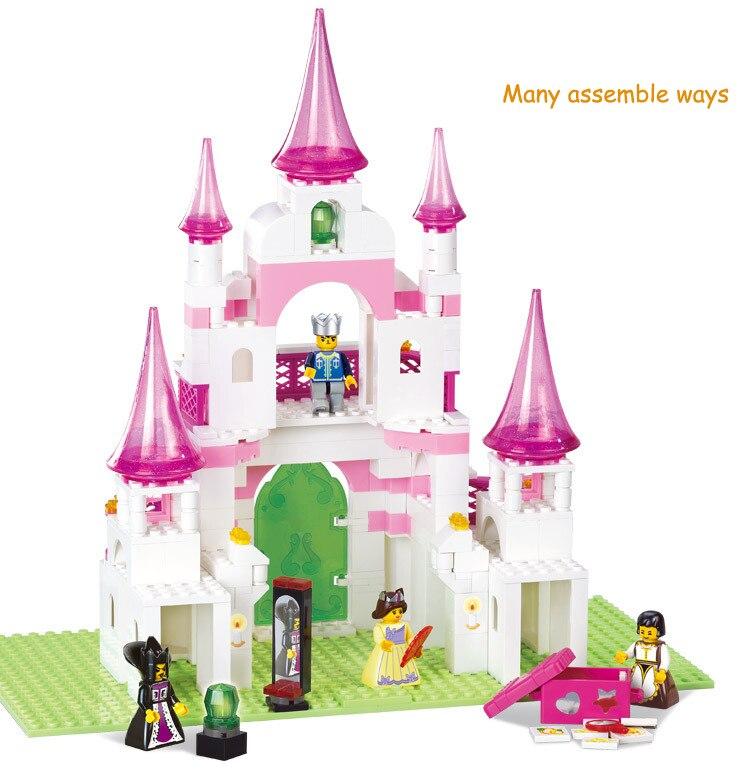 SLuban Строительный набор сделай сам совместимые с лего City замок 772 3D блоки модель образования и здание игрушки хобби для детей