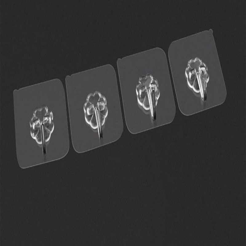1-6 sztuk potężny przezroczyste magiczne bez szwu haki magiczne nano przyssawki Sucker ściany haki wieszak kuchnia łazienka