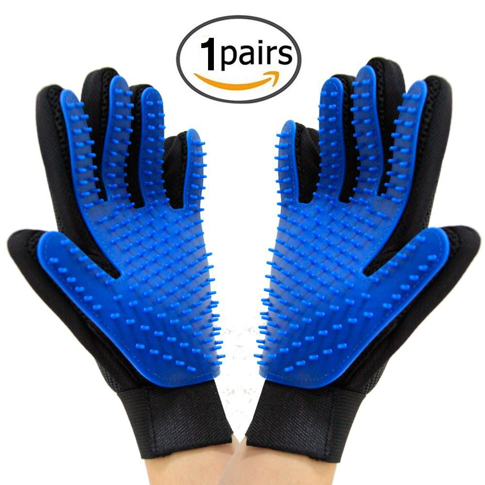 Cat Grooming Deshedding Brush Glove Pet Dog Gentle Efficient Back Massage Fur Washing Bathing Comb Dog Cleaning Brush