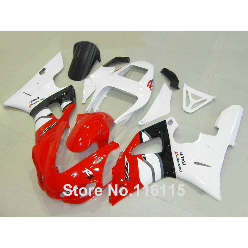 Injection molding full fairing kit fit for YAMAHA R1 1998 1999 YZF R1 white red black ABS fairings set YZF-R1 98 99 YD43 high quality abs fairing kit for yamaha r1 2002 2003 red flames in black fairings set injection molding yzf r1 02 03 yz32