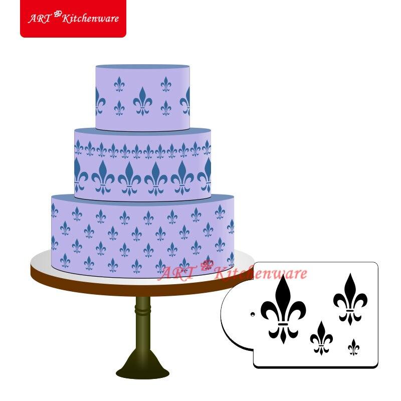 Fleur de Lis Cake Stencil Fondant Cake Decorating Tools ...