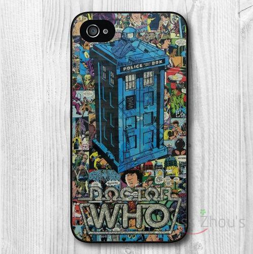 For iphone 4/4s 5/5s 5c SE 6/6s 7 plus ipod touch 4/5/6 back skins mobile cellphone cases cover Retro Doctor Who Comic Book
