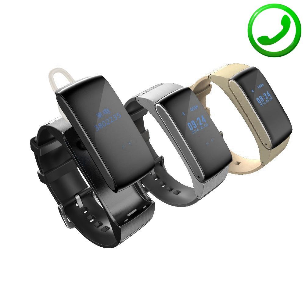 ZB66 font b Smart b font Band Bracelet Talkband Bluetooth Earphone Smartband font b Watch b