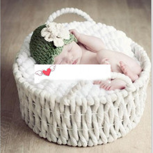 New Newborn photography props Baby Photography Supplies Studio Props Children Basket Hundred Days Basket Baby Basket Kids Toys new children blanket baby hundred days to take pictures of linen cloth newborns photography props 75cmx80cm including burr 7cm