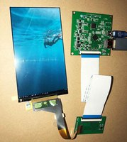 5.5inch 1440*2560 2K LCD KIT For Light curing 3D printer MIPI TO HDMI LCD Touch Kit LS055R1SX04
