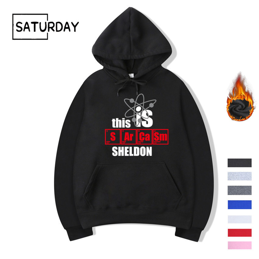Men's The Big Bang Theory Fleece Hoodies Sweatshirts Unisex Sheldon Lee Cooper Hoodies Women Winter Black Hoodie Clothes