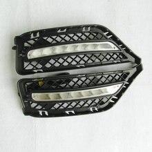2 комплекта Автомобильный светодиодный DRL для BMW X1 E84 2011 2012 дневные ходовые огни Дневные противотуманные фары