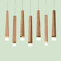 Nordic Handmade Pendant Lights Lamp Wood suspension luminaire Home Loft decor Verlichting hanglamp for Foyer Lobby Dining Room