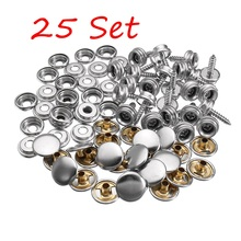25set Canvas Canopy Snap Stud Cap Boat Marine Cover Fastener Stainless Steel Screw Universal Accessories