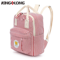 Kingslong fashion cotton backpack female for adolescent girls to school striped student backpack women school bags.jpg 250x250