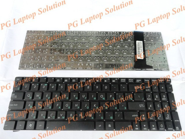 Ruso del teclado para asus n56 n56v u500vz n76 n76v r500v r505 s550c ru negro teclado del ordenador portátil