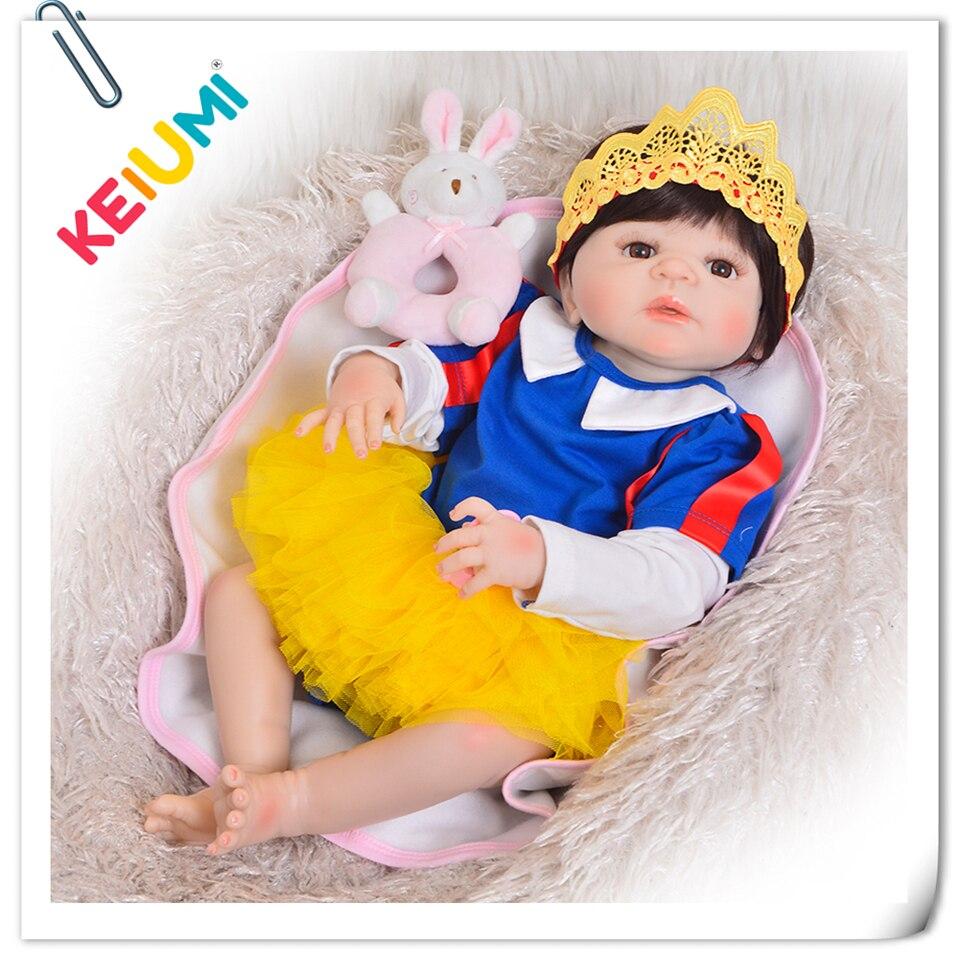 Fatti a mano 23 ''Reborn bebe Realistico Principessa Del Silicone Pieno Bambole Del Bambino Rinato Ragazze di Modo Cosplay Bambola Giocattoli Per I Bambini giorni