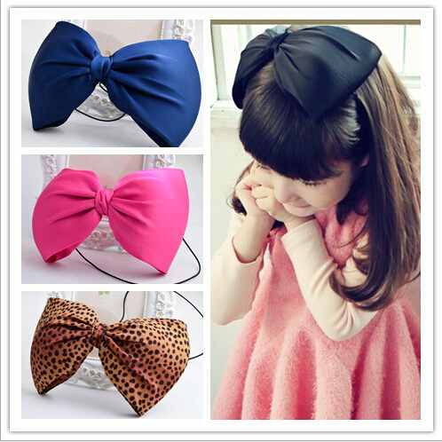 2017 Hot sale Newest headbands High quality girls big bowknots Headwrap lady hair accessories  sexy leopart printing hairbands