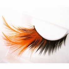 Exaggerated Drag Feathers False Eyelashes
