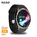 READ A5 Dial Call Quad core 512MB+8GB RAM Heart Rate Monitor smart Watch for Android 5.1 3G/WiFi/GPS SIM Card Anti lost Google