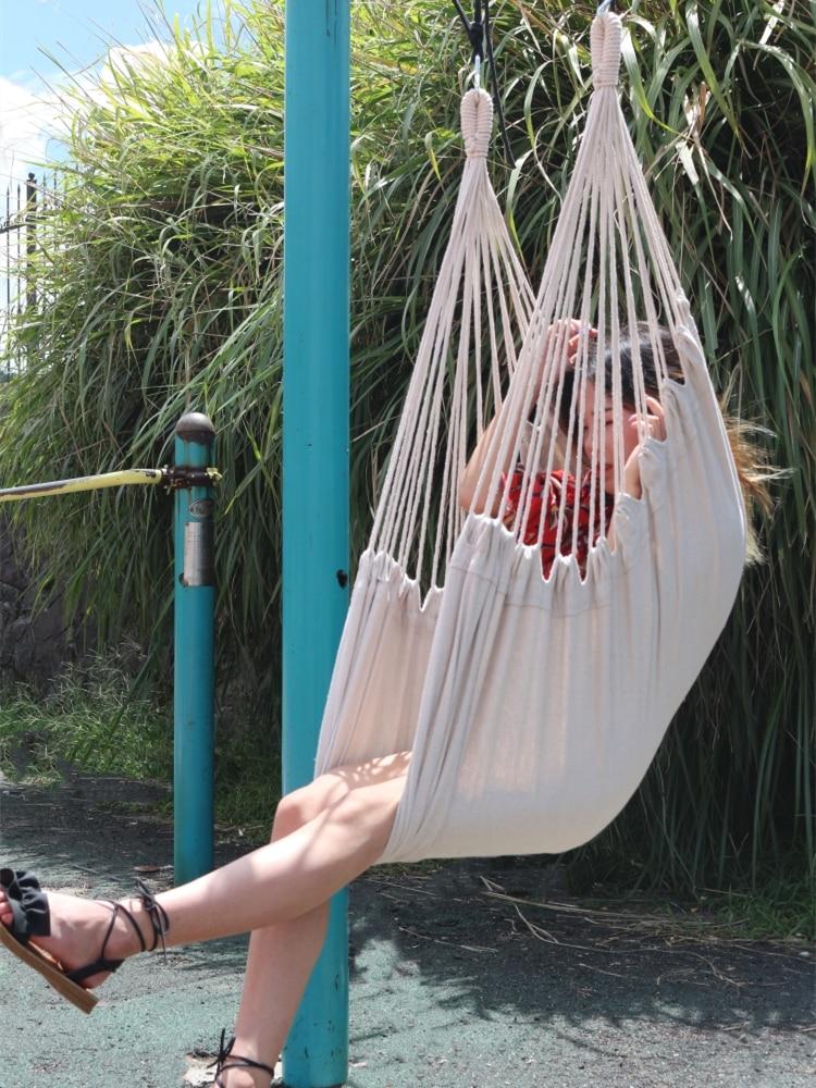 Pure Color Outdoor And Indoor Hammock Adult Kids Children Swinging Hanging Chair