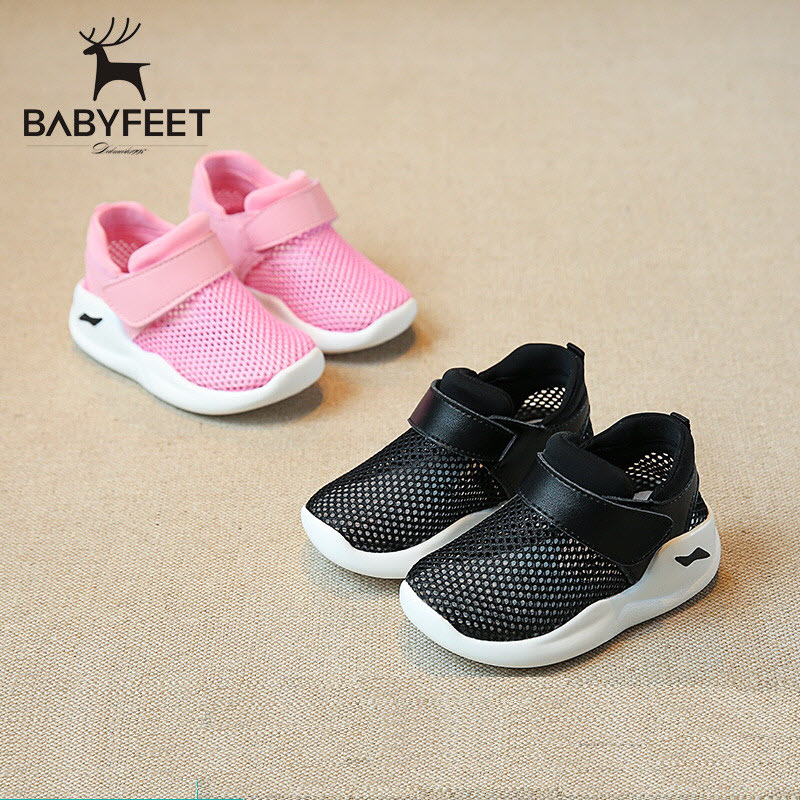 2017 Summer babyfeet Children sneakers toddle shoes breathable Hollow Mesh shoes Low Boys girls sport shoes net running Shoes 2017 kids summer shoes new air mesh for children holes candy color slip on unisex breathable running fashion sport cool sneakers