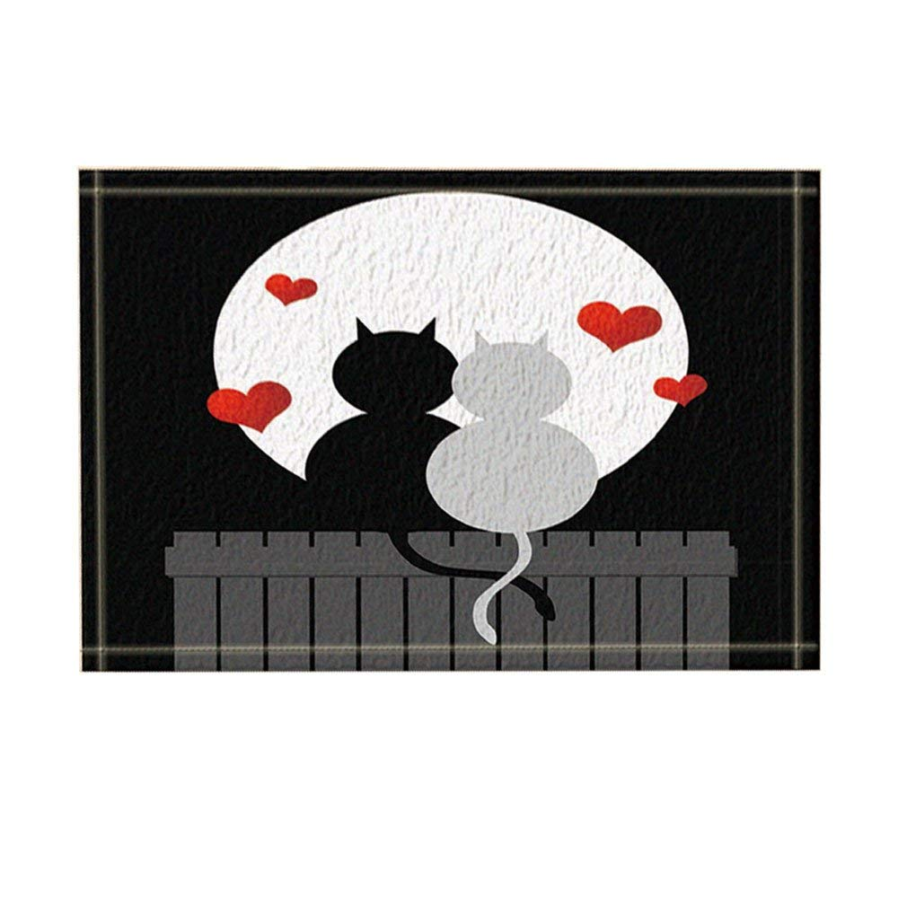 Naive Decorcats Fall In Love Under Big Moon Bath Rugs For Bathroom