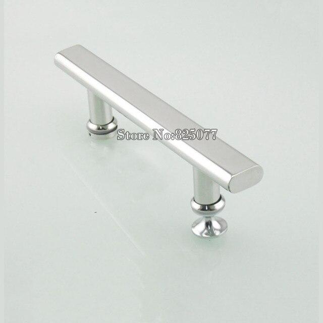 1 Pair Shower Door Handle Bathroom Glass Stainless Steel Sliding Arc