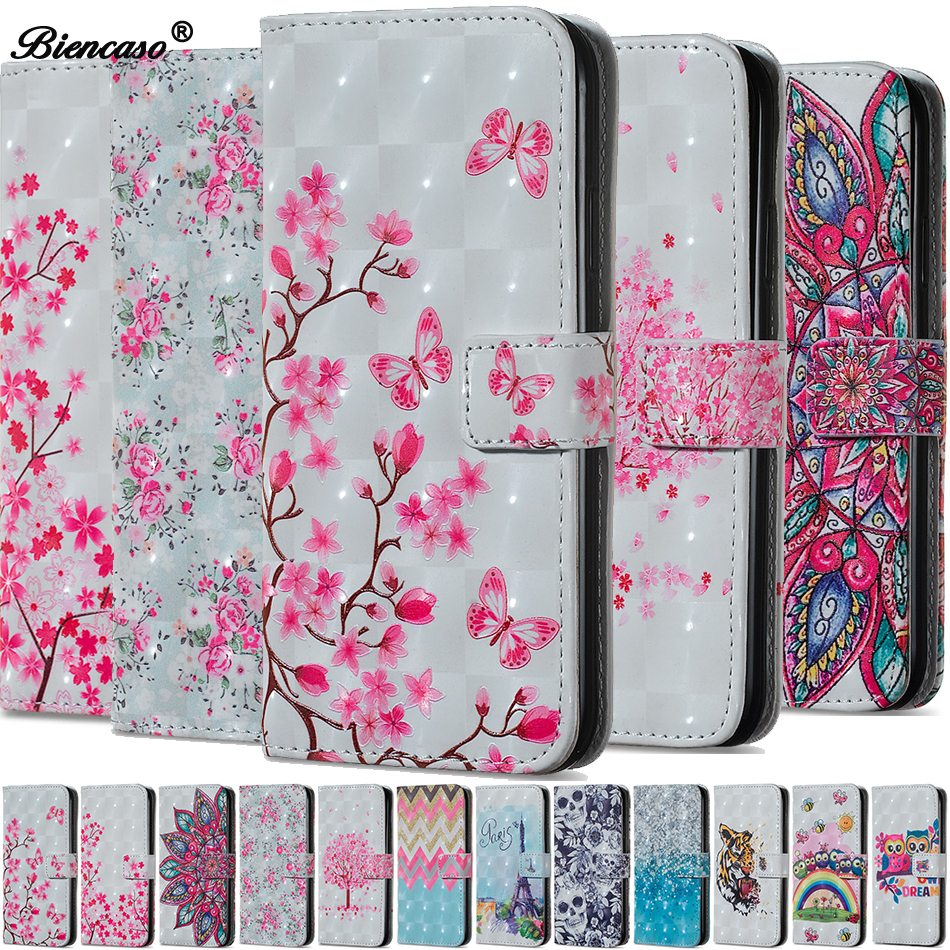 For iphone 6 Plus Wallet <font><b>Case</b></font> for <font><b>Huawei</b></font> Honor 7C 7A Y7 PRO Y6 Prime <font><b>2018</b></font> Nova 2 Lite P20 Mate 20 <font><b>P</b></font> <font><b>smart</b></font> Flower <font><b>Flip</b></font> Cover B67 image