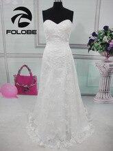 Szata De Mariage Custom Made Sweetheart Vestidos De Novia aplikacje koronkowe długie suknie ślubne linii Backless suknie ślubne