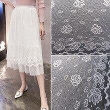 ZOTOONE 1Yard Lace Ribbon High Quality Fabric African Rose Flower Pattern 150cm Width DIY E