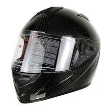 3K Carbonfiber Motorcycle Full Face Helmet Motorbike Steet Racing Flip Up Helmets