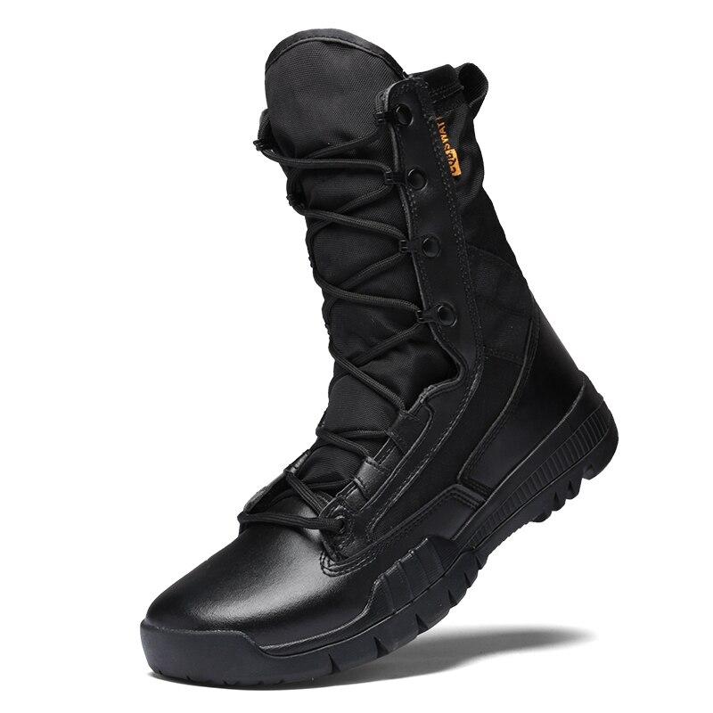Hommes militaires bottes tactiques Force spéciale désert cheville Combat bottes sécurité chaussures de plein air Plus nouvelle botte d'armée ultralégère